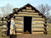 General Washington (Portrayed by Carl Closs) at Valley Forge