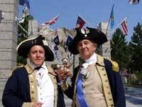 Mount Rushmore - Gene Pisasale as Aide de Camp with General Washington (Portrayed by Carl Closs)