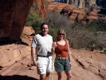 Sedona - Gene and Phyllis Hiking