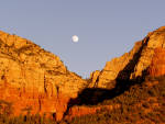 Sedona - Moon over Red Rocks